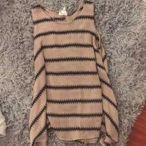 PPLA sleeveless striped knit top